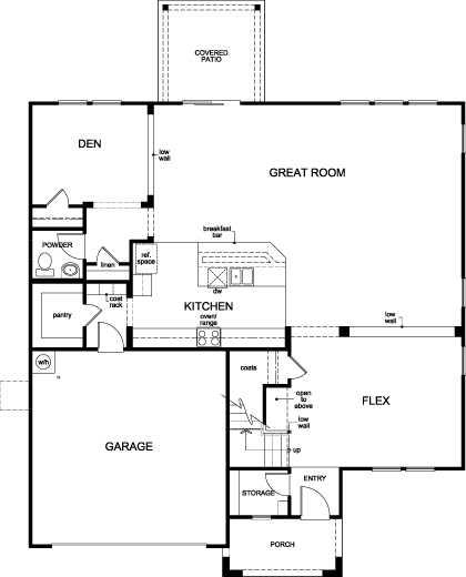 kb homes floor plans black horse ranch floor plan kb home model 3589 downstairs